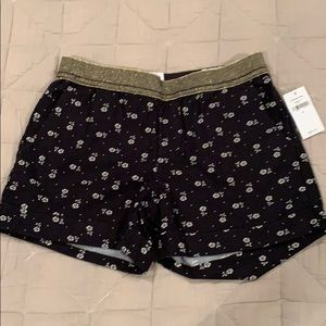 NWT Gap kids black and white floral shorts Sz S